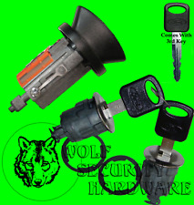 Ford Mazda Ignition Key Switch Cylinder Tumbler & Chrome Door Lock Set 3 Keys