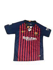 Nike Aeroswift Fc Barcelona Lionel Messi Short Sleeve Soccer Jersey Boys Sze 24