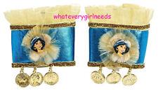 2 PC Disney Jasmine Princess Aladdin Child Girl Bracelet Cuffs for Costume