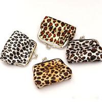 Leopard Print Lucky Bag Womens Small Wallet Card Holder Coin Purse Handbag Bag