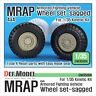 DEF Model 1/35 US 4x4 MRAP Armoured Fighting Vehicle Sagged Wheels for Kinetic