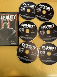 Call of Duty Black Ops 3 PC 2015 (6 Discs) Complete COD Treyarch Activision Game
