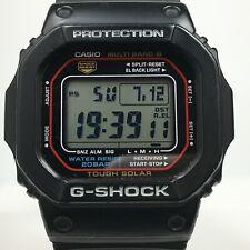 Casio G-Shock GW-M5610-1CR Multi Band 6 Tough Solar Pre-owned[Free Shipping BIN]