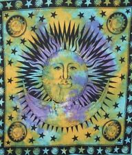 Sun Moon & Stars Tapestry Night Queen Decorative Boho Hippie Decor Wall Hanging