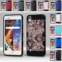 FOR LG LG TRIBUTE HD/X STYLE SLIM IMPACT RUGGED HYBRID SHOCKPROOF TPU CASE COVER
