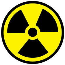 RADIOACTIVE SYMBOL RADIATION WARNING SELF ADHESIVE VINYL STICKERS SAFETY