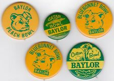 Baylor University Bears Football Pin Pinback Button Badge Lot (5)