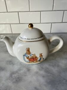 Vintage Beatrix Potter FW& Co. 1997 Teleflora Gift Teapot Peter Rabbit
