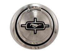 NEW! 1967 - 1968 Ford Mustang Gas Cap Pop Open Black Horse Emblem Chrome