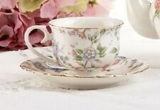 Delton Porcelain Tea Cup & Saucer for 2 Gift Set SWEET BLOSSOM
