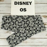 OS LuLaRoe DISNEY Leggings; WINKING MICKEY MOUSE HEADS; Sizes 2-10; grey black