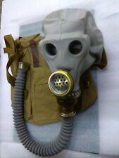 GAS MASK SCHMS (mask,hose,bag), USSR army, missile officer, genuine, vintage