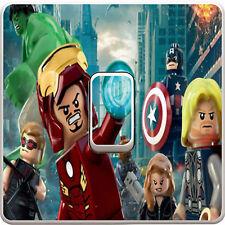 Marvel Lego Iron Man Light Switch Vinyl Sticker Decal for Kids Bedroom #42