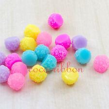 12mm 20pcs Mixed Fake Sugar Candy Ball Flatback Resin Cabochons Cabochon C05