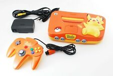 Nintendo 64 Console Pikachu Orange Yellow Limited Edition N64 NTSC-J [Excellent]