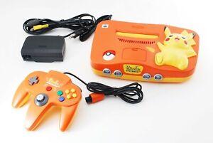 Nintendo 64 Console Pikachu Orange Yellow Limited Edition N64 NTSC-J [Excellent]