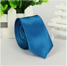 Skinny Solid TIE Thin Narrow Slim Formal Wedding Party Men's Neck Tie
