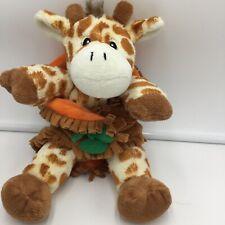 "Fiesta Giraffe Blanket Brown Orange Spots Plush Soft Toy Stuffed 10"" Animal"