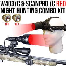 Wicked Lights W403iC & ScanPro iC RED Night Hunting Light & Headlamp Combo Kit