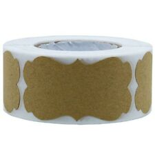 300pcs Vintage Blank Kraft Label Sealing Sticker For Gift Cake Baking Packaging