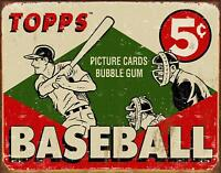 "Topps - 1955 Baseball Box Tin Sign, 16"" W x 12.5"" H"
