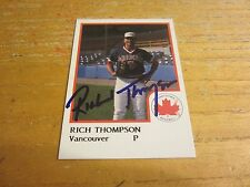 Rich Thompson Autographed Signed 1986 Vancouver Canadians ProCards #26 Card MLB