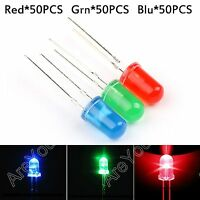 150Pcs 5mm Red Green Blue 3 Colors Diffused LED Light Round Top Emitting Diode