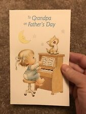 Grandpa Father's Day Vintage Greeting Card Ruth J. Morehead Blessed Are Ye