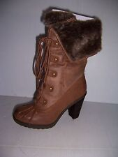 CALL IT SPRING COGNAC MARROTTE WOMAN'S BROWN HIGH HEEL  BOOTS  SIZE 7 NEW!