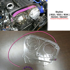 Clear Cam Pulley Gear Timing Belt Cover For Nissan Skyline R32 R33 R34 GTS RB25