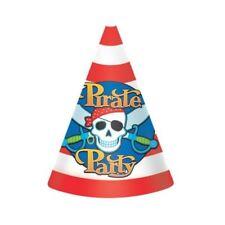 8pk Partito Pirata Festa di Compleanno a Forma di Cono Cappelli Teschio E Spade