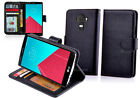 NEW Black Leather ID Wallet Case Cover for LG G4 4G