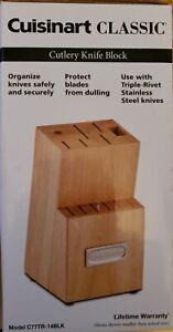 Cuisinart Classic Wood Cutlery Knife Block  Lifetime Warranty  New In Box