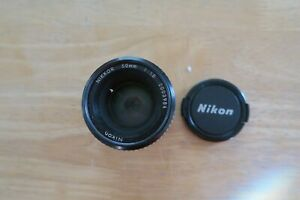 Nikon AI-S NIKKOR 50mm f/1.8 standard MF Pancake Lens From JAPAN
