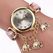 Elephant Pendant Bracelet Watch