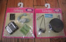 IDEAL VTG Tammy Doll Accessories, #9183-80 Camera Telephone Typewriter Lot of 2