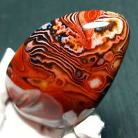 TOP 188.3G Natural Polished Banded Agate Crystal Madagascar Healing WQ761