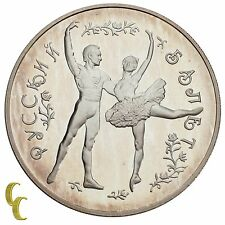 1993 Russian 25 Rouble 5 ounce Sterling Silver Round Proof Coin Bolshoi Ballet