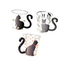 Set de 3 piezas Taza de café creativa linda taza de vidrio Taza de té Copa