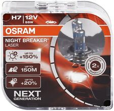 H7 55W Osram Birnen 12V Lampen Halogen Lampe Night Breaker Laser Optik Duo Box