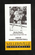 Millersville Marauders--1998-99 Basketball Pocket Schedule--Jack's Family Tavern