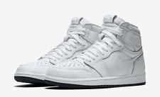 2017 Nike Air Jordan 1 Retro High OG SZ 10 White Perforated Premium 555088-100