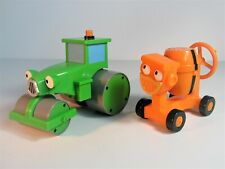 2001 Hasbro Bob The Builder Talking Roley & Dizzy Toy Vehicles
