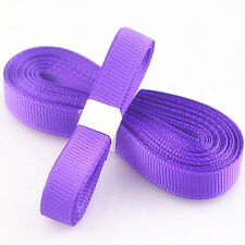 "5yds 3/8"" (10 mm) Purple Solid Christmas Grosgrain Ribbon Hair Bows Ribbion"