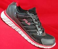 FILA DLS INTERSELLAR Black/Red 1SR20390 Mens Casual Running Athletic Shoes NEW