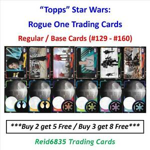 """""""Topps"""" Star Wars: Rogue One Trading Cards - Regular / Base Cards (#129 - #160)"""