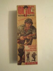 1964 VINTAGE GI JOE  EMPTY SOLDIER BOX  with 7 pc of paperwork
