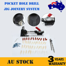 Pocket Hole Drill Jig Joinery System Woodworking Portable Drilling Bit Kit