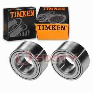 2 pc Timken Front Wheel Bearings for 1994-2001 Acura Integra Axle Drivetrain xu