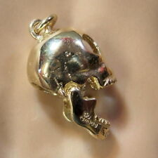9ct gold new  moveable skull charm